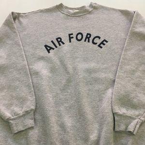 Vintage Air Force Sweatshirt USA Gray L Crewneck